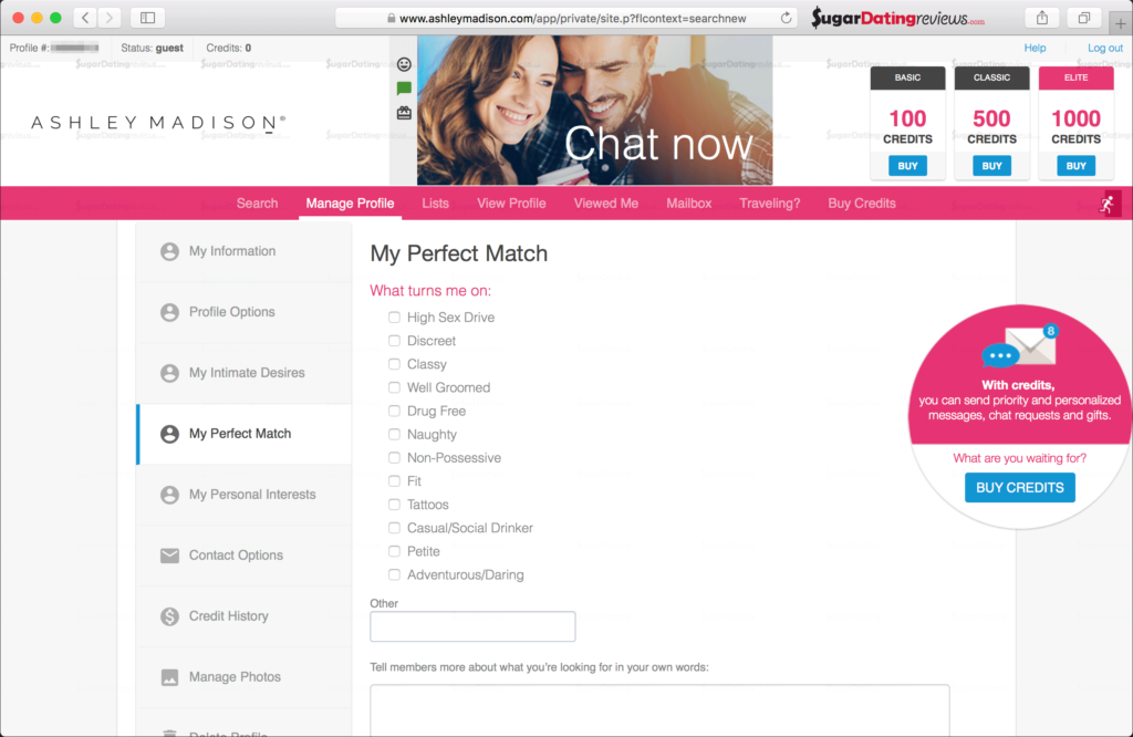 Details about your perfect Match on Ashley Madison