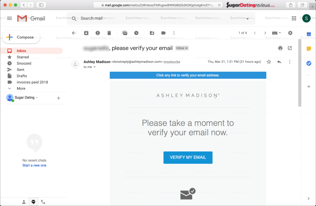 AshleyMadison.com verification email example