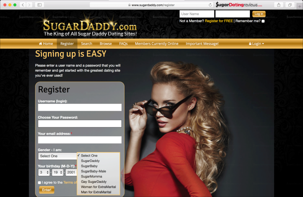 Joining is Fast and Easy & Free on Sugar Daddy dating site SugarDaddy.com