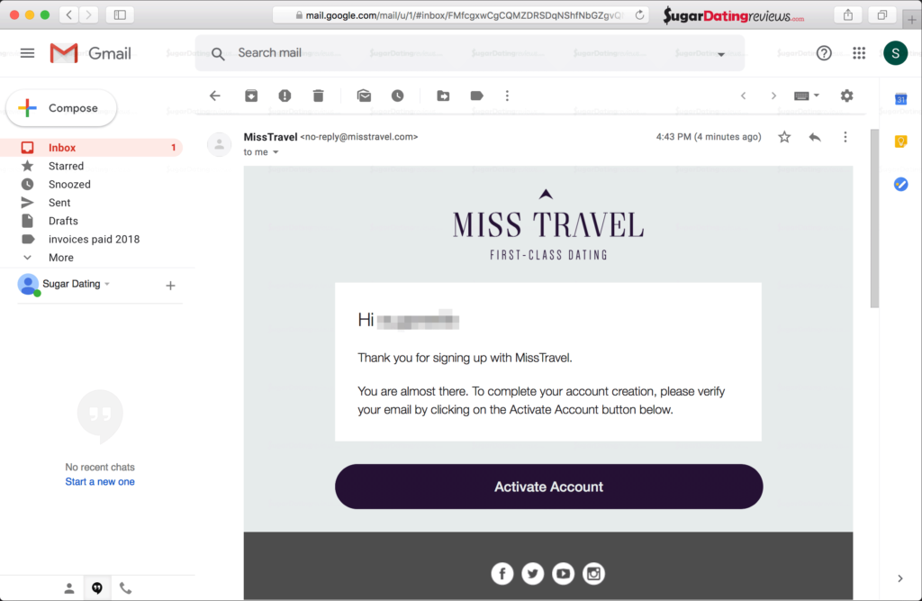 Verify your email address to use your account on MissTravel